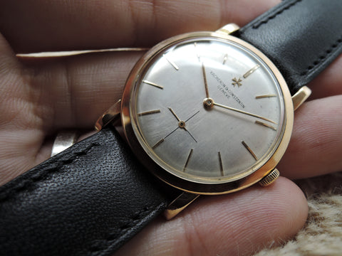 1960 Vacheron Constantin 18K Rose Gold with Original Silver Dial and Sub Seconds