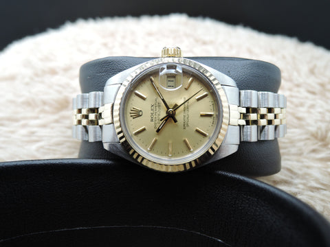 1981 Rolex DATE Ladies 6917 2-Tone Gold Dial with Solid Jubilee Band