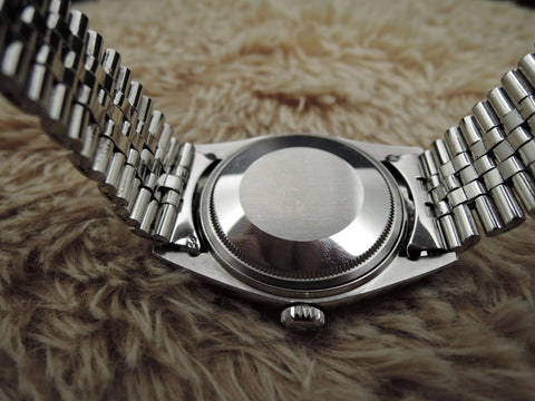 1972 Rolex DATEJUST 1603 Stainless Steel Original Matt Black Dial with Paper