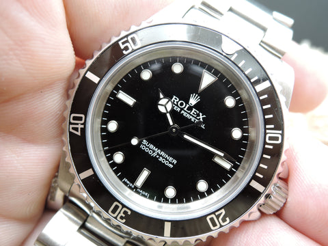 2005 Rolex SUBMARINER 14060M with Black Bezel