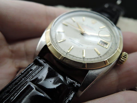 "1950 Rolex OYSTER PERPETUAL 6075 ""RED"" Datejust BIG Bubbleback (36mm)"