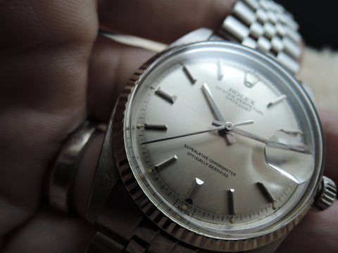 1977 Rolex DATEJUST 1601 Stainleass Steel Original SIlver Dial with Folded Jubilee