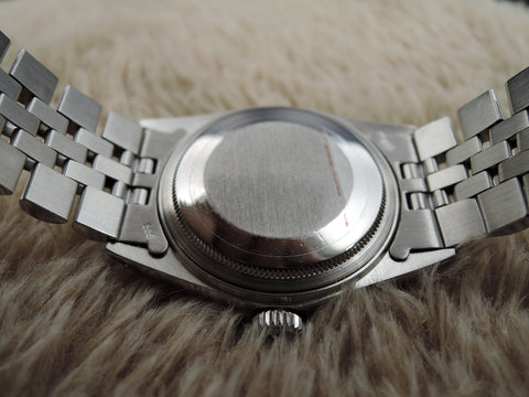 1986 Rolex DATEJUST 16014 Stainless Steel Original Silver Texture Dial