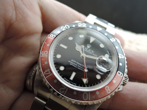 1998 Rolex GMT MASTER 2 16710 Red/Black Coke Bezel with BOX and PAPER