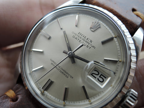1970 Rolex DATEJUST 1603 SS with ORIGINAL Silver Dial