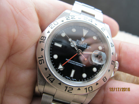 2003 Rolex EXPLORER 2 16570 Black Dial with Box and Paper