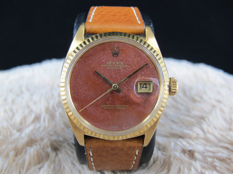 [1972] Rolex DATEJUST 1601 18K YG with Original Chalcedony Dial