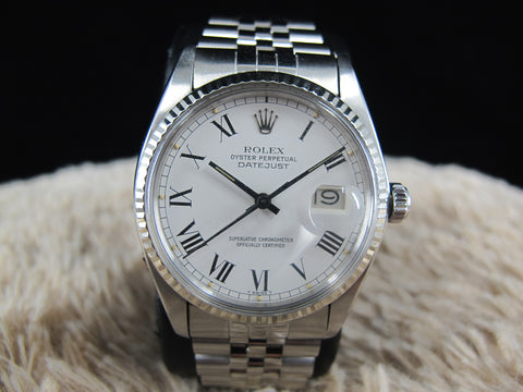 [1978] Rolex DATEJUST 16014 with Original White Buckley Dial