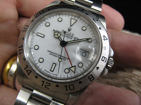 [1990] Rolex EXPLORER 2 16570 White T25 Dial (Yellow Lume Dots)