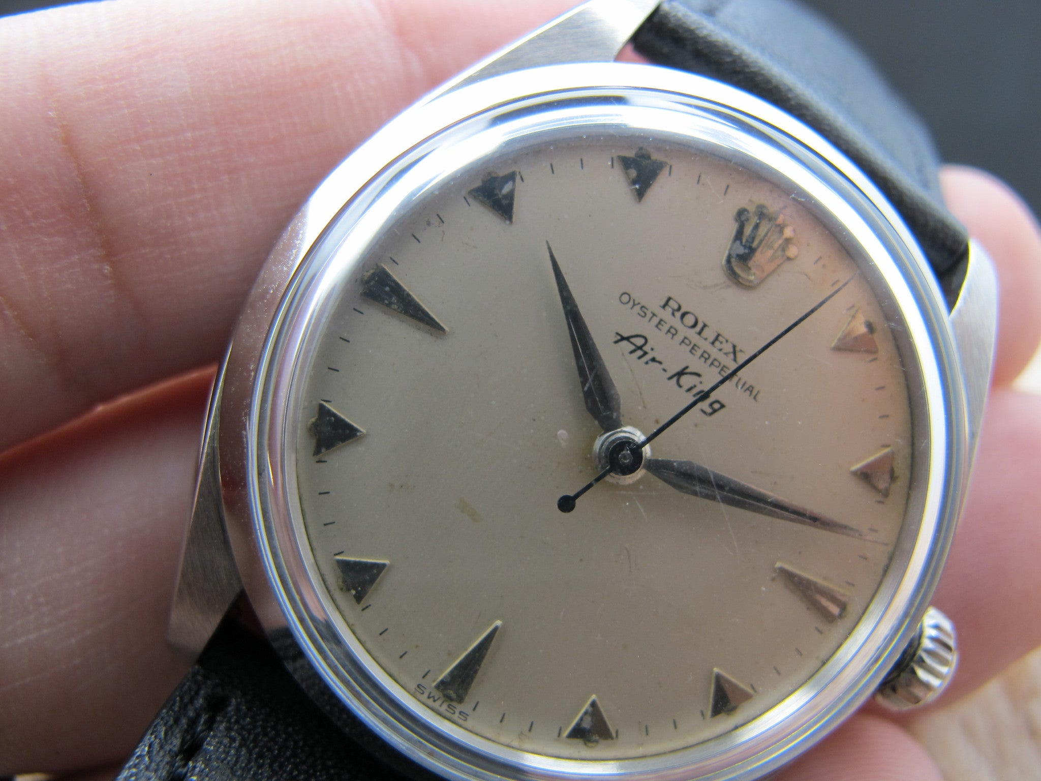 1958 Rolex Air King 5500 Original Creamy Fly Index Dial