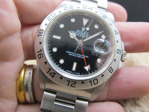 1996 Rolex EXPLORER 2 16570 (T25 Dial) with Black Dial
