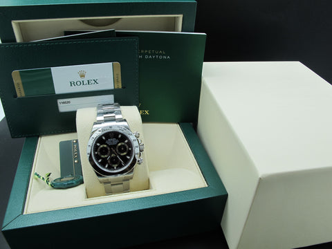 [NEW] 2016 Rolex DAYTONA 116520 Stainless Steel Black Dial with Full Set