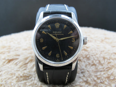 1954 Rolex OYSTER PERPETUAL 6332 with 2-Step Gilt Dial and Dauphine Hands