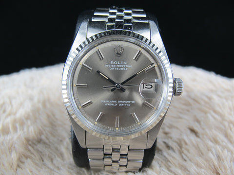 [1977] Rolex DATEJUST 1601 SS ORIGINAL Brownish Grey SIGMA Dial with Folded Jubilee
