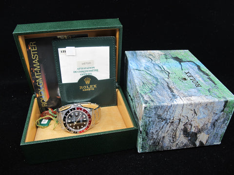 [1994] Rolex GMT MASTER 2 16710 (T25 Dial) Coke Bezel Full Set