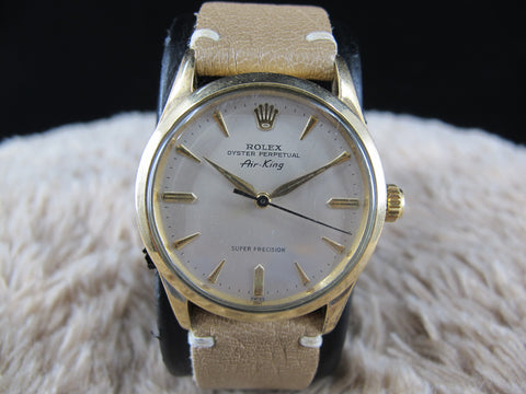 [1961] Rolex AIR KING EXPLORER 5506 Gold Plated with Creamy Dial