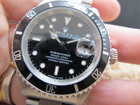 1991 Rolex SUBMARINER 16610 (T25) Black Dial with Black Bezel
