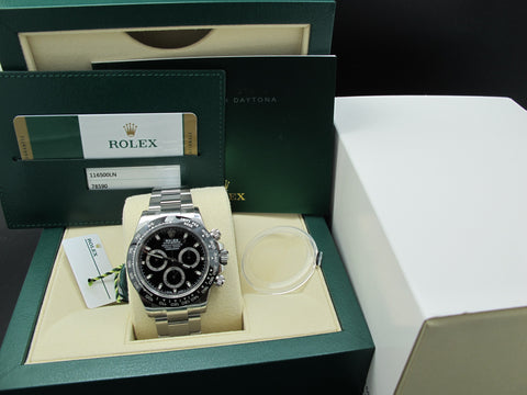[NEW] Rolex DAYTONA 116500 Black Dial with Ceramic Bezel