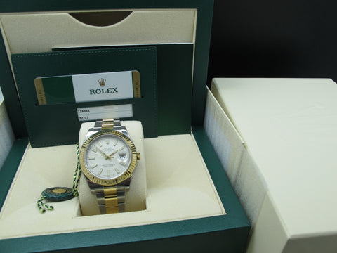 [NEW] Rolex DATEJUST 2 116333 2-Tone with Ivory Stick Dial