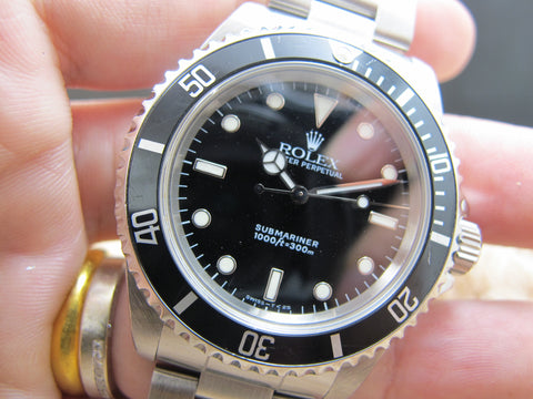 1997 Rolex SUBMARINER (T25 Dial) 14060 with Black Bezel