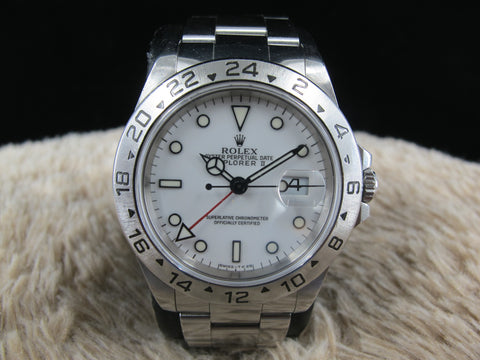 [1997] Rolex EXPLORER 2 16570 (T25 Dial) with White Dial