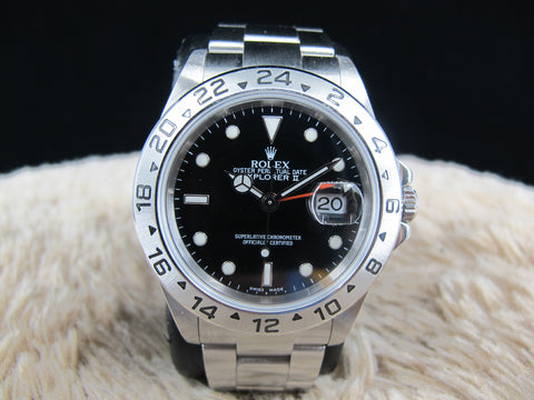 [2005] Rolex EXPLORER 2 16570 (No Hole Case) Black Dial Watch Only
