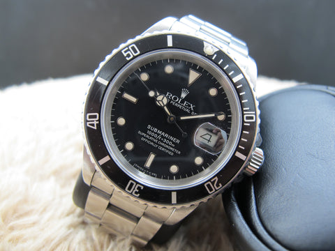 1986 Rolex SUBMARINER 16800 Glossy Patina Dial UNPOLISHED
