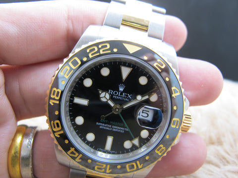 2009 Rolex GMT-MASTER 2 116713LN 2-Tone Ceramic Bezel Full Set