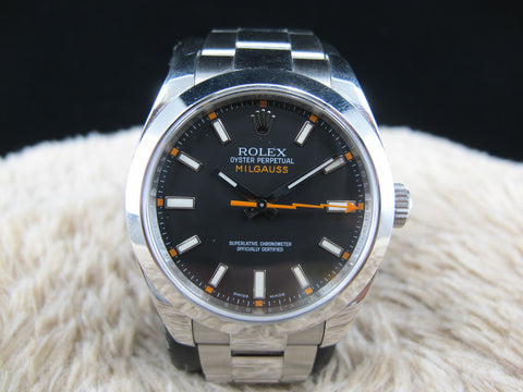 [2008] Rolex MILGAUSS 116400 Black with Paper
