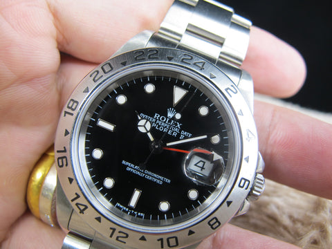 [1996] Rolex EXPLORER 2 16570 (T25 Dial) with Black Dial and RSC Paper
