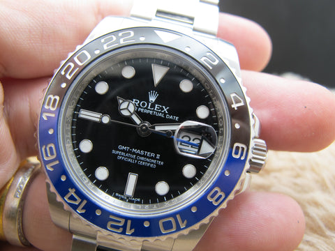 "2014 Rolex GMT-MASTER 2 116710BLNR ""BATMAN"" Blue/Black Full Set"