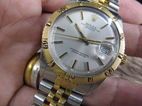 [1966] Rolex DATEJUST THUNDERBIRD 1625 2-Tone Original Silver Dial and Solid Jubilee Band