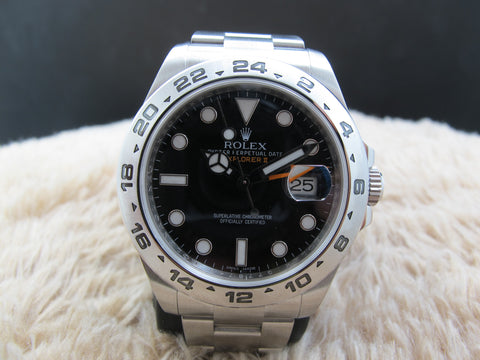 2010 Rolex EXPLORER 2 216570 Black Dial Orange Hand