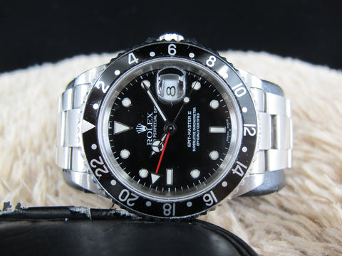 [2004] Rolex GMT MASTER 2 16710 Black Bezel with FULL SET (UNPOLISHED)