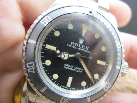 1970 SUBMARINER 5513 Non-Serif Matt Dial Egg Shell Patina with RSC Paper