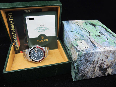 [2001] Rolex GMT MASTER 2 16710 Coke Bezel with Box and Paper (UNPOLISHED)