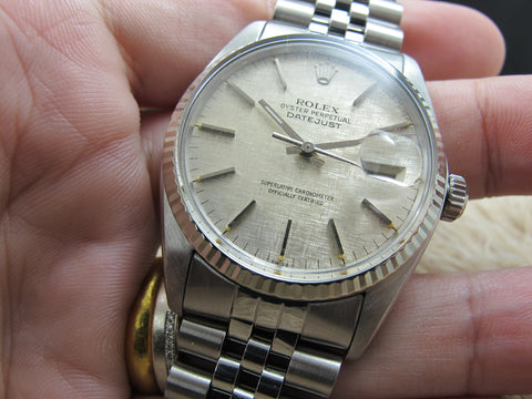 1977 Rolex DATEJUST 16014 Stainless Steel Original Silver Texture Dial with RSC Paper