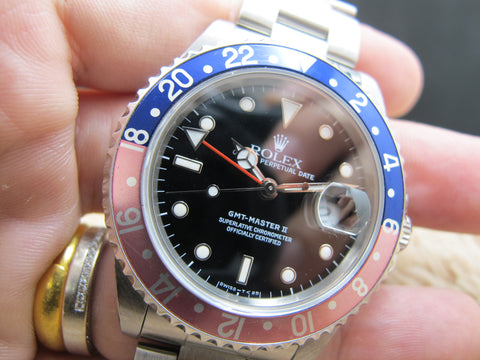 1987 Rolex GMT MASTER 2 16710 Pepsi Red/Blue Bezel with RSC Paper