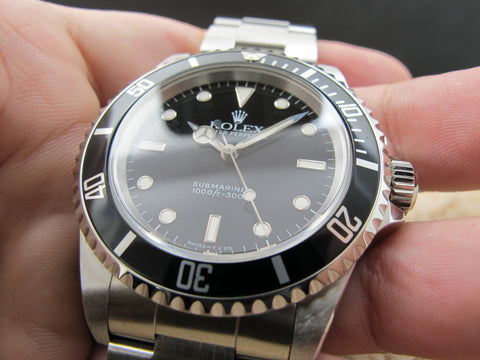 1994  Rolex SUBMARINER (T25 Dial) 14060 with Black Bezel