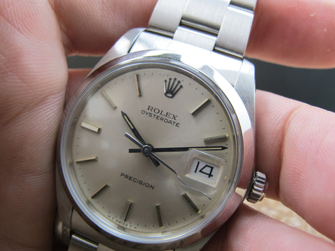 1984 Rolex OYSTER DATE 6694 Original Silver Dial with Paper