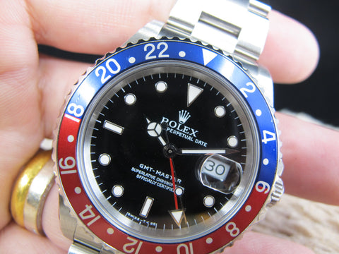 [1994] Rolex GMT MASTER 16700 Pepsi Red/Blue Bezel with BOX and PAPER