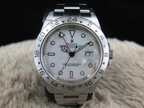 [2001] Rolex EXPLORER 2 16570 White Dial with Box and Paper