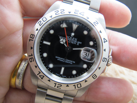 2000 Rolex EXPLORER 2 16570 Black Dial with Box and Paper