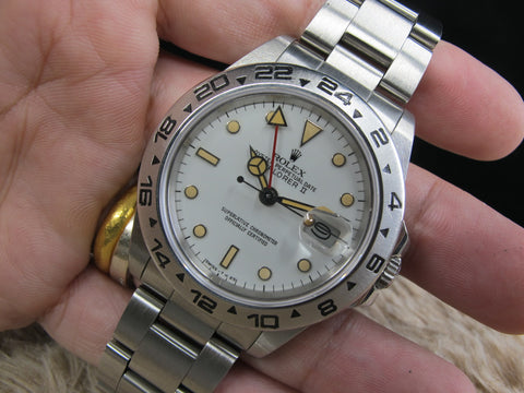 "1980 Rolex DATEJUST 16030 SS Original White ""Boiler Gauge"" Dial with Paper"
