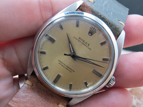 "1962 Rolex OYSTER PERPETUAL 1018 ""SWISS"" Tropical Dial BIG SIZE (36mm)"