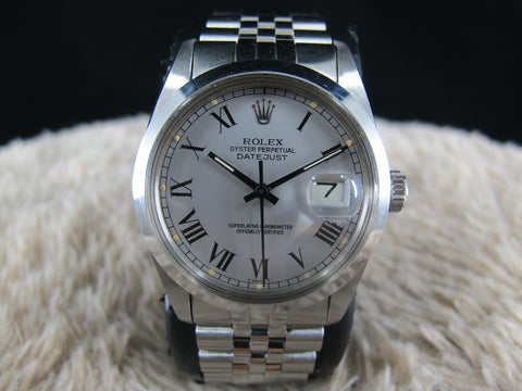 [1982] Rolex DATEJUST 16000 Stainless Steel Original Grey Buckley Dial