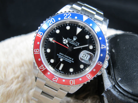 [NEW] 2006 Rolex GMT MASTER 2 16710 Pepsi Bezel Z Serial Full Set (NOS)