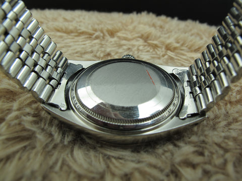 1969 Rolex DATEJUST 1601 SS Silver Diamond Dial with Folded Jubilee