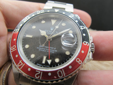 "1986 Rolex GMT MASTER 2 16760 ""FAT LADY"" with Tropical Matte Dial"