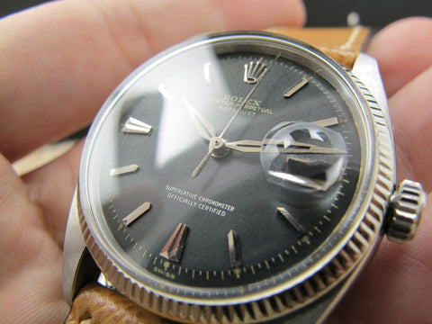 1958 Rolex DATEJUST 6605 with Original Matt Black Dial